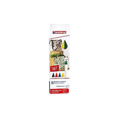 estuche-5-rotuladores-para-prendas-tela-edding-4600-5-s-apto-para-algunos-tejidos-mixtos-punta-de-fibra-grosor-1mm-colores-basic