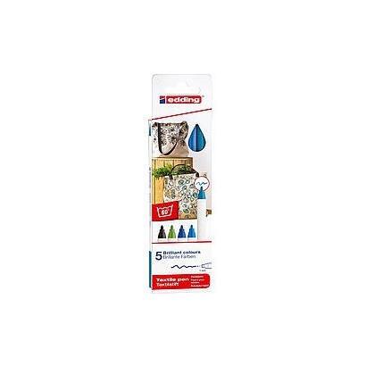 estuche-5-rotuladores-para-prendas-tela-edding-4600-5-s-099-apto-para-algunos-tejidos-mixtos-punta-de-fibra-grosor-1mm-colores-f