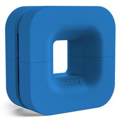 nzxt-organizador-cables-auriculares-puck-con-iman-azul-puck-147g-max-2kg