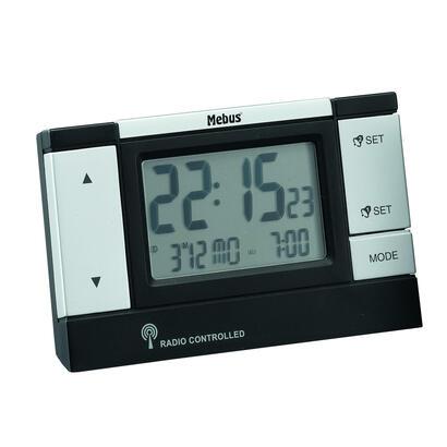 mebus-51059-despertador-negro-plata
