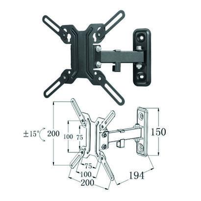 soporte-articulado-de-pared-phoenix-para-tvmonitor-rotacion-180aa-hasta-4211-inclinacion-15aa-vesa-200x200-hasta-25kg-color-negr