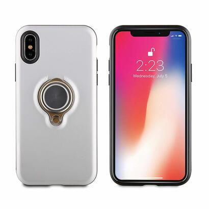 muvit-ring-magnetica-funda-plateada-para-apple-iphone-x