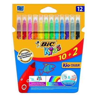 rotuladores-caja-12-bic-kid-couleur-base-agua-tinta-ultralavable-punta-28mm