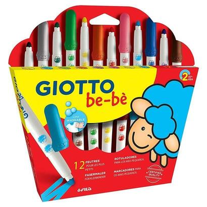 pack-12-maxi-rotuladores-giotto-be-be-469900-punta-bloqueada-resistente-o-5mm-capuchon-de-seguridad-tintas-super-lavables