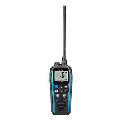 vhf-portatil-icom-ic-m25-euro-azul-bandas-laterales-proteccion-ipx7-flota-y-parpadea-bateria-de-litio-1500mah-11h-autonomia-cone