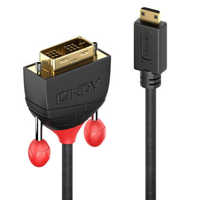lindy-36281-adaptador-de-cable-de-video-1-m-hdmi-type-c-mini-dvi-d-negro
