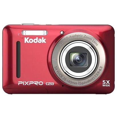 camara-digital-kodak-pixpro-cz53-roja-16mpx-lcd-27-682cm-zoom-5x-opt-angular-28mm-video-hd-720p-usb-20-estabilizador-digital