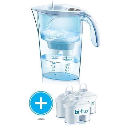 pack-jarra-filtrante-laica-stream-line-color-edition-blanca-3-filtros-bi-flux-capacidad-23l-filtro-desmontable-con-indicador