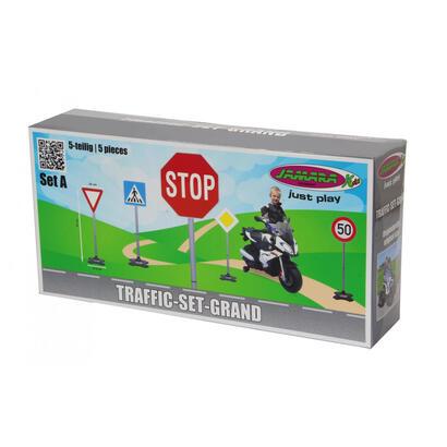 jamara-460257-accesorio-para-juguete-de-montarse-juego-de-senales-de-trafico-de-juguete