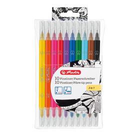 herlitz-50007486-rotulador-de-punta-fina-negro-marron-azul-claro-rojo-amarillo-10-piezas