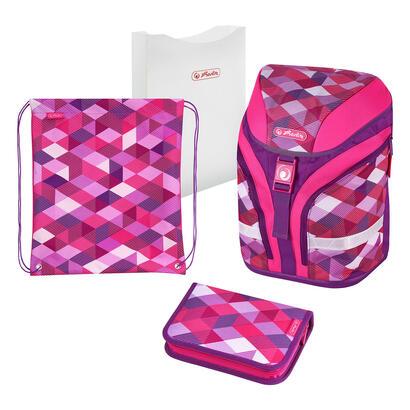 herlitz-pink-cubes-juego-de-mochila-escolar-chica-poliester-rosa