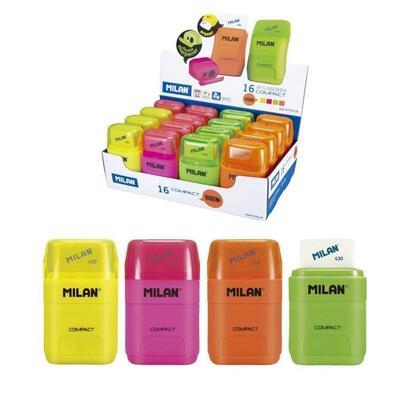 combinacion-de-goma-y-sacapuntas-compact-fluo-milan-colores-surtidos-fluor
