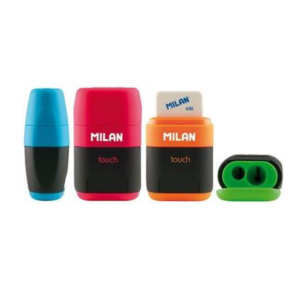 combinacion-de-goma-y-sacapuntas-compact-touch-duo-milan-colores-surtidos