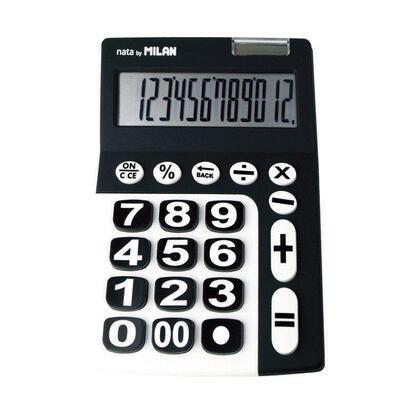 calculadora-milan-negra-12-digitos-alimentacion-dual-celula-solar-pila-15v-225143cm-color-negro-con-panel-blanco