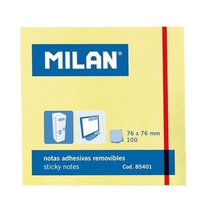 bloc-100-notas-adhesivas-milan-85401-amarillo-claro-7676mm