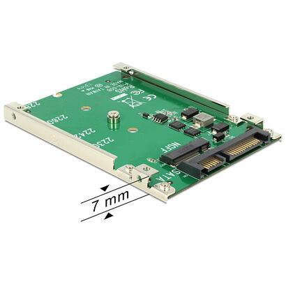 delock-62544-adaptador-sata-22pin-67pin-m2-ngff-25-verde
