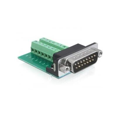 delock-65275-adaptador-sub-d-15-pin-gameport-16-pin-terminal-block-verde