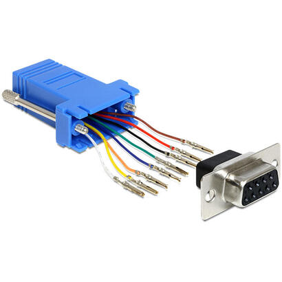 delock-65430-adaptador-de-cable-sub-d-9p-rj45-negro-azul-plata