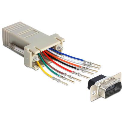 delock-65462-adaptador-de-cable-sub-d-9-rj45-gris