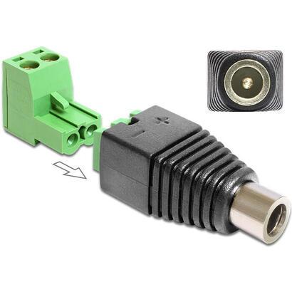 delock-65486-adaptador-de-cable-dc-25-x-55-mm-2p-negro-verde-plata