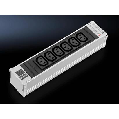 rittal-dk-7856080-base-multiple-6-salidas-ac-interior-negro-gris