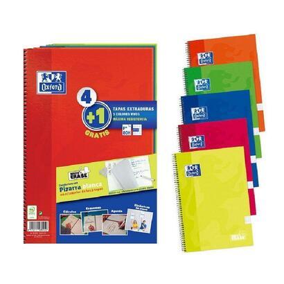 pack-de-41-cuadernos-con-pizarra-blanca-en-tapas-oxford-a4-tapas-extraduras-cuadricula-44-con-scribzee-colores-surtidos-80-hojas