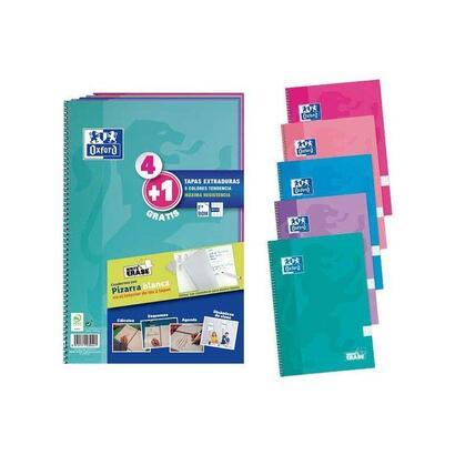pack-de-41-cuadernos-con-pizarra-blanca-en-tapas-oxford-a4-tapas-extraduras-cuadricula-44-con-margen-colores-tendencia-80-hojas-