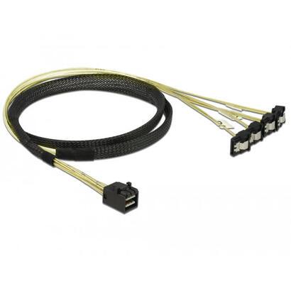 delock-85685-cable-scsi-negro-amarillo-1-m-1-x-mini-sas-hd-sff-8643-4-x-sata-7-pin