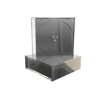mediarange-box21-funda-para-discos-opticos-caja-transparente-para-cd-1-discos-negro-transparente-100uds
