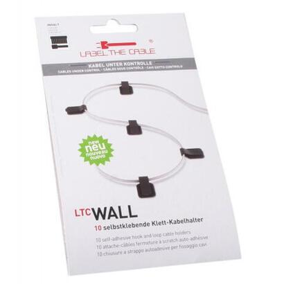 label-the-cable-soporte-de-velcro-autoadhesivos-negros-10-piezas