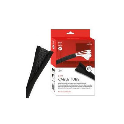 label-the-cable-ltc-5120-organizador-de-cables-tubo-flexible-para-proteccion-de-cables-escritoriopared-negro-1-piezas