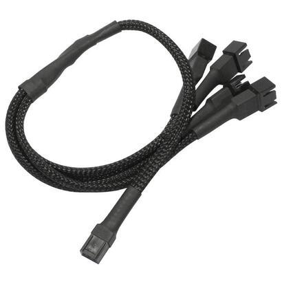 nanoxia-900100004-adaptador-de-cable-4-x-3-pin-molex-3-pin-molex-negro
