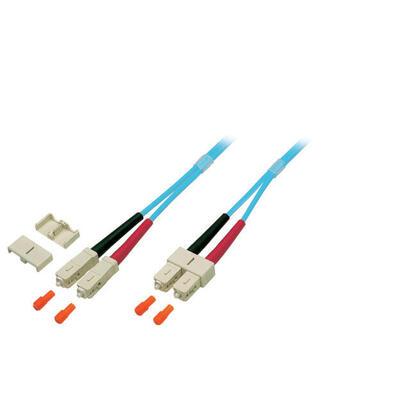 efb-elektronik-o741330-cable-de-fibra-optica-30-m-om3-sc-aqua