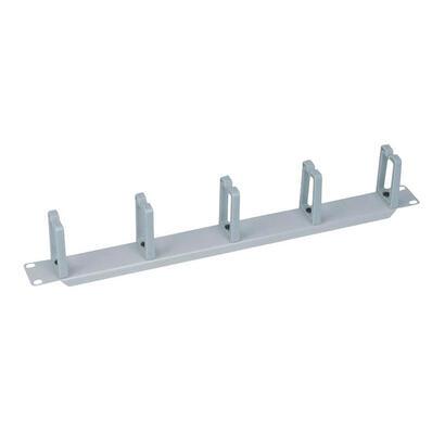 logilink-or104g-panel-de-gestion-de-cables-19-1u-5-anillos-de-plastico-gris