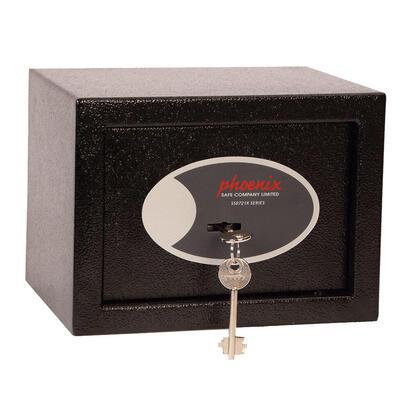 phoenix-compact-caja-fuerte-de-pared-negro-llave-4-l-acero-230-mm