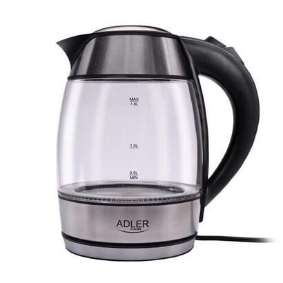 adler-ad-1246-tetera-electrica-18-l-acero-inoxidable-transparente-2200-w