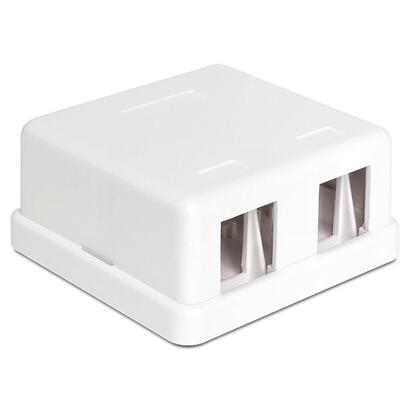 delock-86207-roseta-2x-keystone-blanco