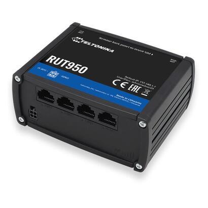 teltonika-rut950-router-inalambrico-banda-unica-24-ghz-ethernet-rapido-3g-4g-negro