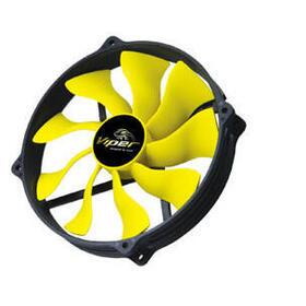 akasa-14cm-viper-r-fan-carcasa-del-ordenador-enfriador-negro-amarillo