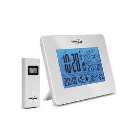 greenblue-estacion-meteorologica-inalambrica-con-sensor-exterior-y-despertador-blanco
