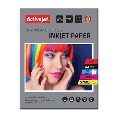 papel-fotografico-activejet-a4-glossy-20-pcs-200g-ap4-200g20