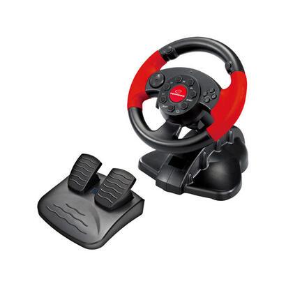 xlyne-eg103-controlador-de-juegos-volante-pc-playstation-2-playstation-3-digital-negro-rojo