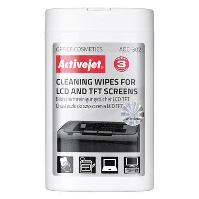 activejet-toallitas-de-limpieza-para-lcd-tft-100-piezas