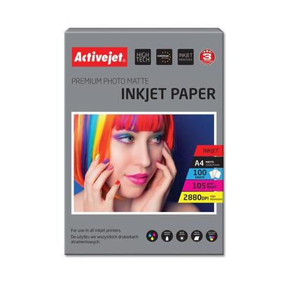 papel-fotografico-mate-activejet-ap4-105m100-para-impresoras-de-tinta-a4-100-pcs