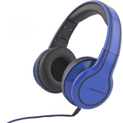 esperanza-eh136b-auriculares-diadema-azul