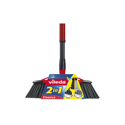 vileda-143783-escoba-interior-negro-gris-rojo-cerda-dura-blanda-tereftalato-de-polietileno-pet