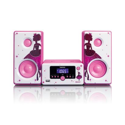 lenco-mc-020-minicadena-de-musica-para-uso-domestico-rosa-blanco-10-w