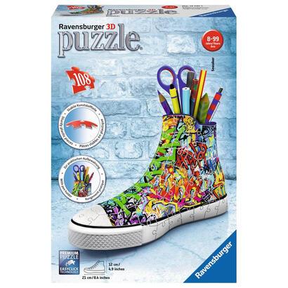 puzzle-3d-zapatilla-portalapices-frozen-2-108-piezas