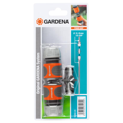 gardena-18283-20-accesorio-para-manguera-conector-de-manguera-gris-naranja-plata-1-piezas