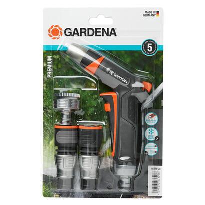 gardena-18298-20-set-basico-premium-conector-para-rociadorpistola-de-plastico-gris-naranja-5-piezas